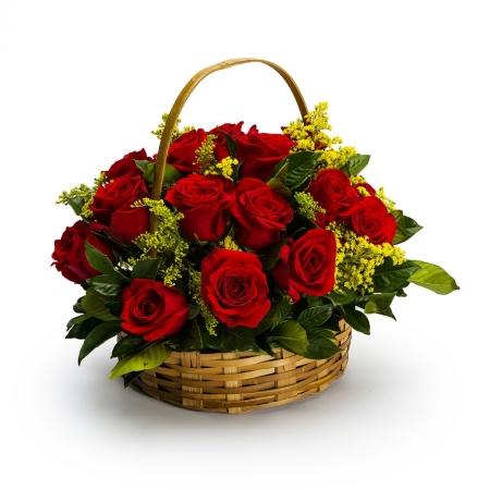 Cestas 24 Rosas Vermelhas  (R$250,00)